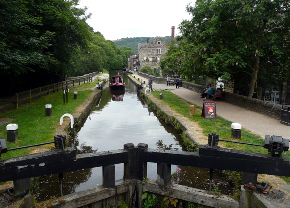 Canalside Hebden bridge